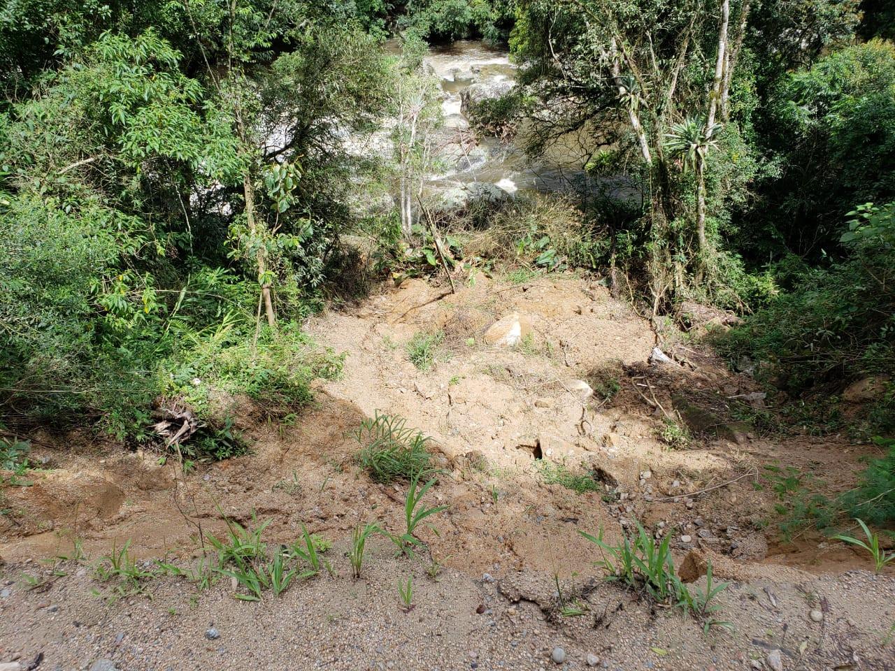 Prefeitura de Anitápolis decretou situação de emergência em decorrência das fortes chuvas que atingiram o município nos últimos dias. - Prefeitura de Anitápolis/Divulgação/ND