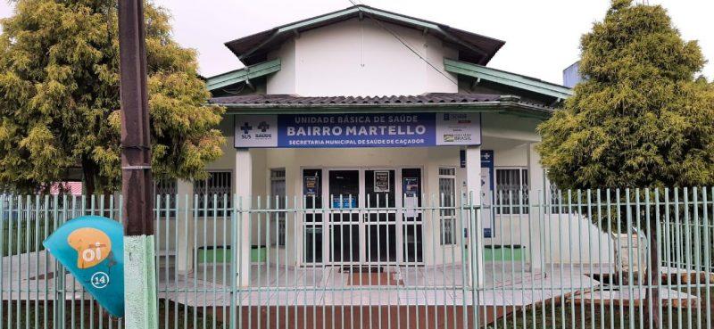 Na imagem aparece o posto de saúde do bairro Martello que passará a ter atendimento noturno de médico pediatra e de saúde do trabalho em Caçador.