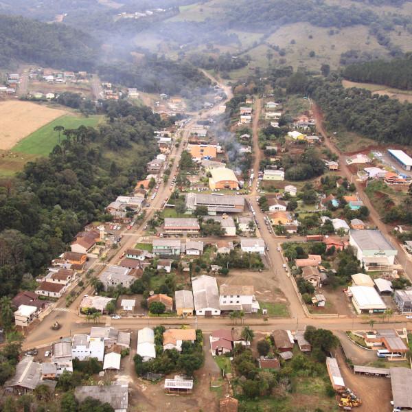 Município de Presidente Castello Branco, no Meio-Oeste de SC, tem 1.547 habitantes – Foto: Governo de SC/Divulgação/ND