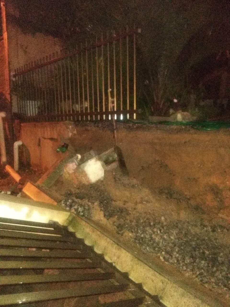 Em Araquari, uma queda de muro foi registrada no Itinga - Divulgação/ND