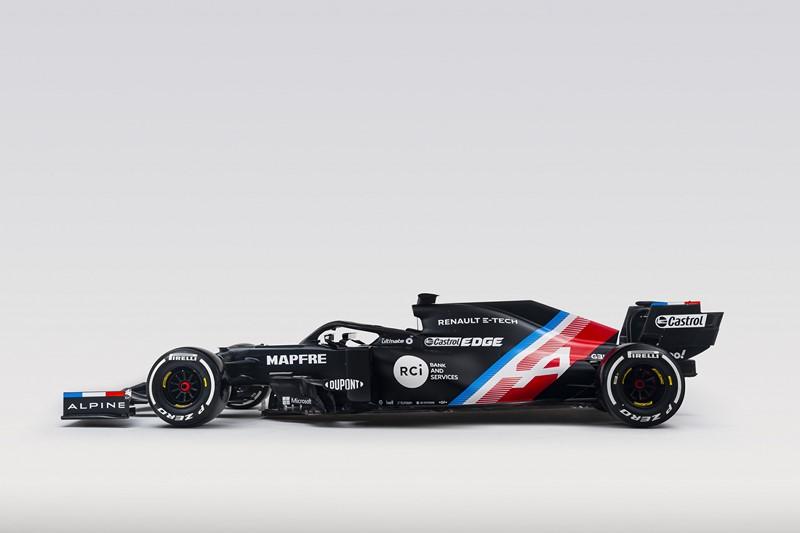 Pintura provisória do carro de F1 da Alpine - Foto: Divulgação/Alpine/Garagem 360/ND