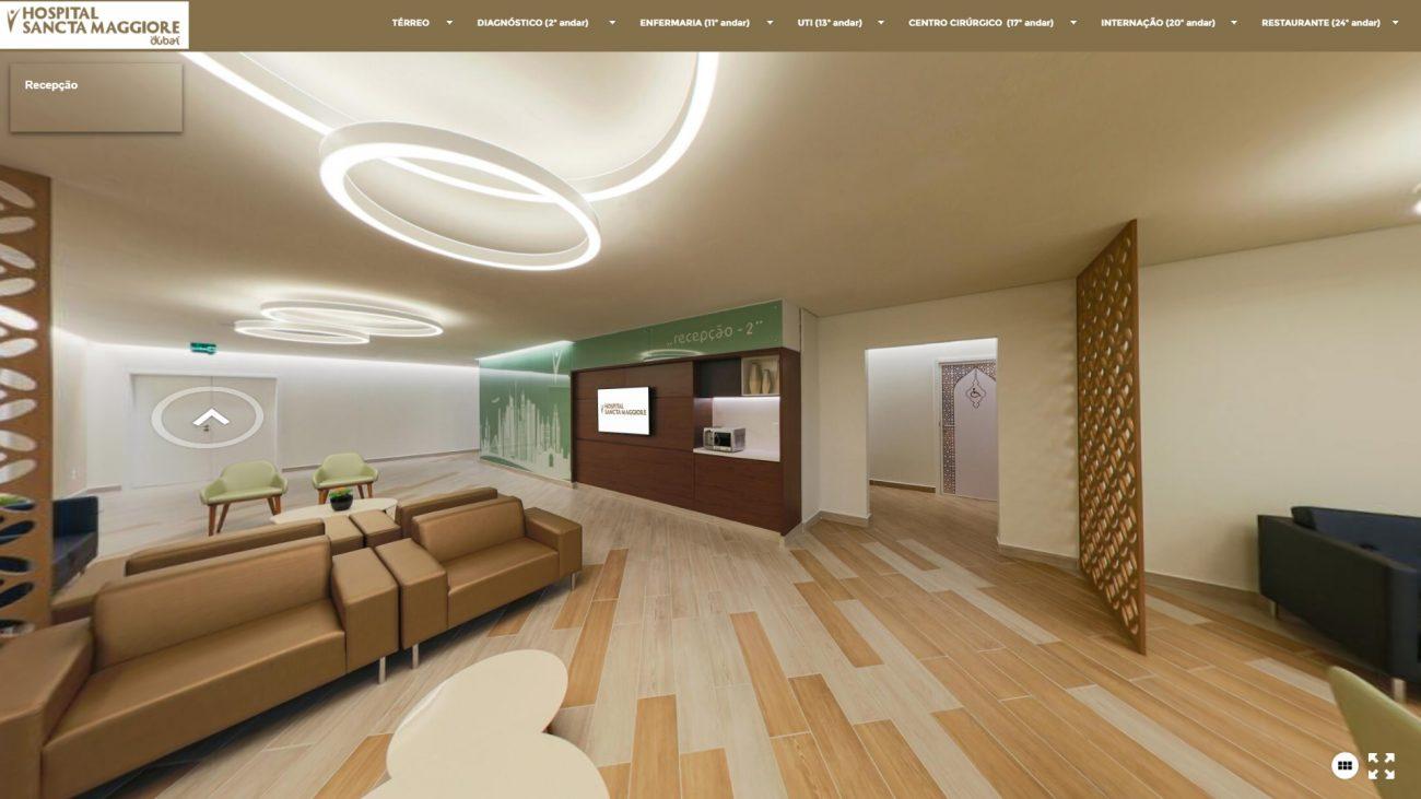 Recepção - Reprodução/Hospital Sancta Maggiore Dubai