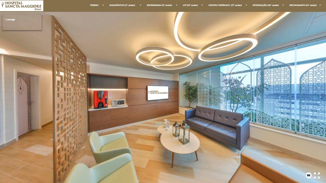 Recepção da Internação - Reprodução/Hospital Sancta Maggiore Dubai