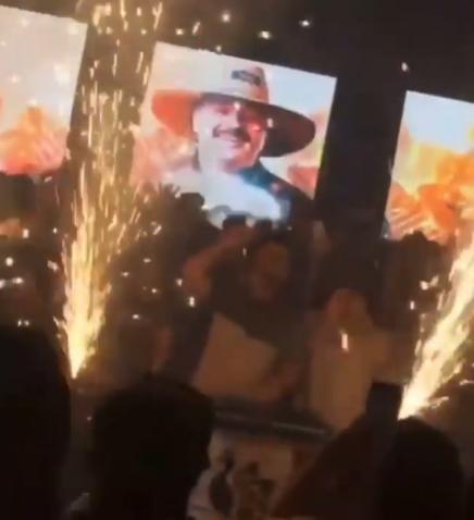 Vídeo que circula nas redes sociais mostra evento sendo realizado na casa – Foto: Reprodução/ND
