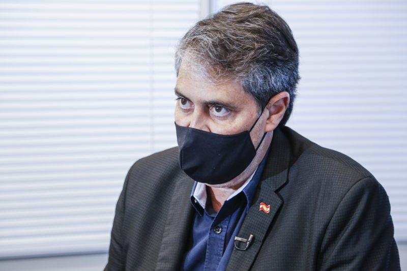 Secretário de Estado da Saúde, André Motta Ribeiro em entrevista ao ND+ – Foto: Anderson Coelho/ND