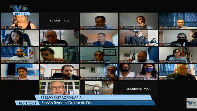 Sessão virtual aprovou a comissão especial para votação dos projetos enviados pelo Executivo – Foto: Reprodução/TVCâmara