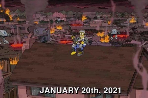 Mais uma vez, internautas apontam que o desenho teria feito uma previsão – Foto: Simpsons/Reprodução