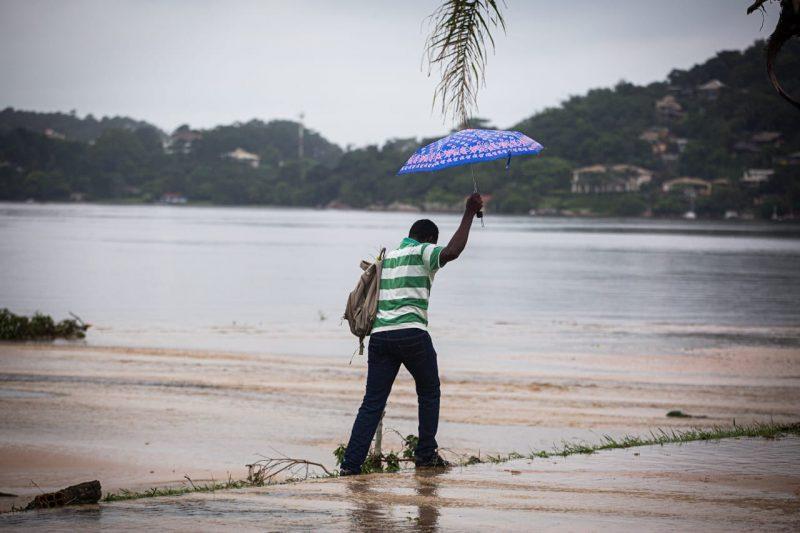 Situação na Lagoa da Conceição na manhã desta segunda-feira (25)