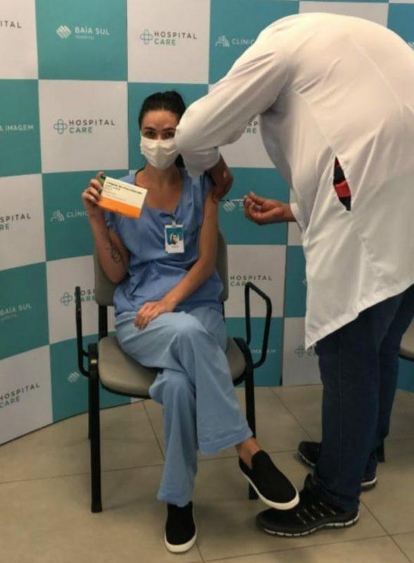Stephannie Mass está imunizada contra a Covid-19