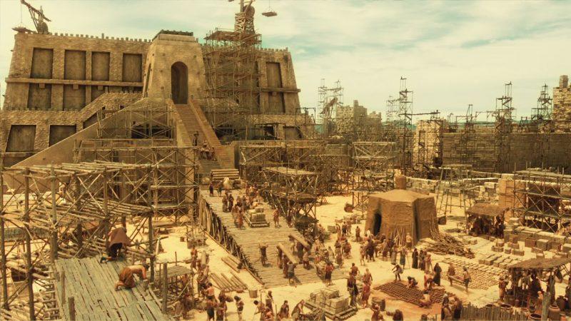 Na terceira fase, falou sobre a construção da Torre de Babel: efeitos especiais de cinema – Foto: RecordTV/Divulgação/ND