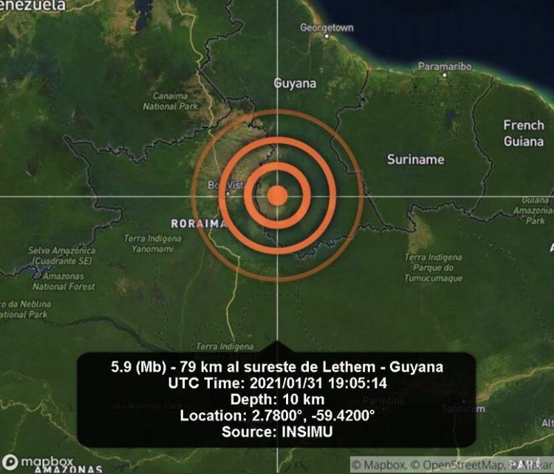 Terremoto foi registrado na Guiana e no Norte do Brasil – Foto: Reprodução/ND
