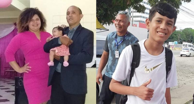 Antônio, Geovana e as crianças Emanuelle e Carlos morreram no acidente – Foto: Arquivo pessoal/ND