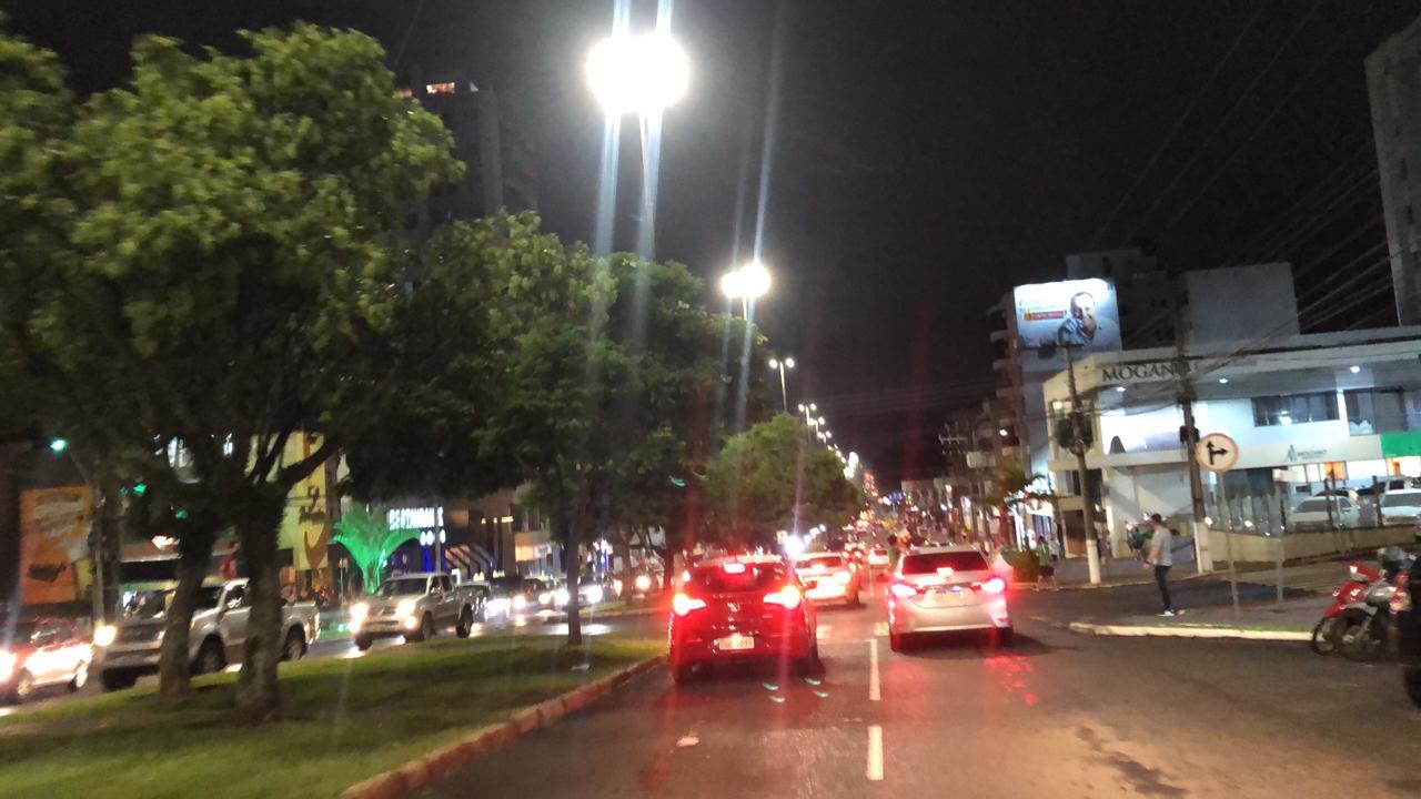 Torcida do Verdão do Oeste invadiu as ruas de Chapecó para comemorar a vitória; - Willian Ricardo/ND