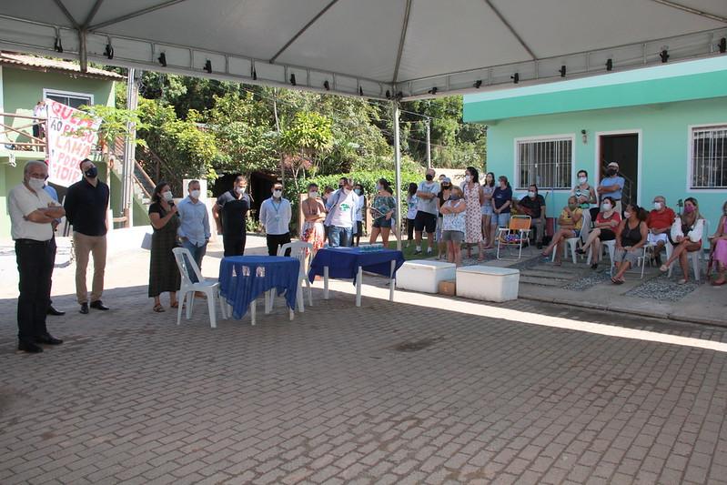 Tenda foi montada para encontro entre Casan e comunidade – Foto: Edio Helio Ramos/CMF/ND