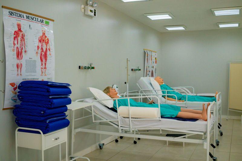 Os equipamentos foram disponibilizados para auxiliar a criação de leitos de enfermaria. – Foto: UCEFF/Divulgação/ND