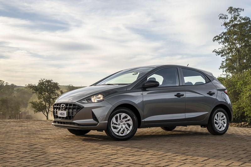 Os detalhes da versão de entrada do Hyundai HB20 2021 - Foto: Divulgação/Hyundai/Garagem 360/ND