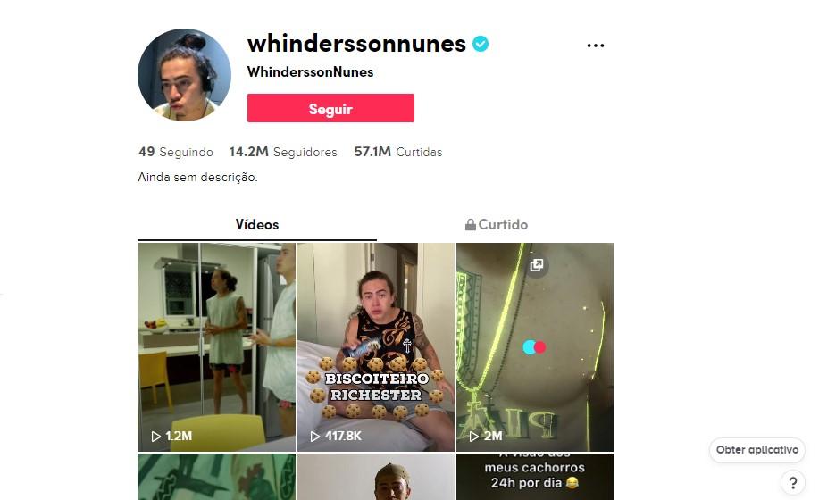Whindersson Nunes - @Whinderssonnunes O humorista piauiense ficou famoso no YouTube e trouxe o mesmo estilo de humor para o TikTok. Além de piadas e cenas autorais, Whindersson mistura os desafios famosos da rede social com cenas da sua rotina pessoal - Foto: Divulgação/33Giga/ND