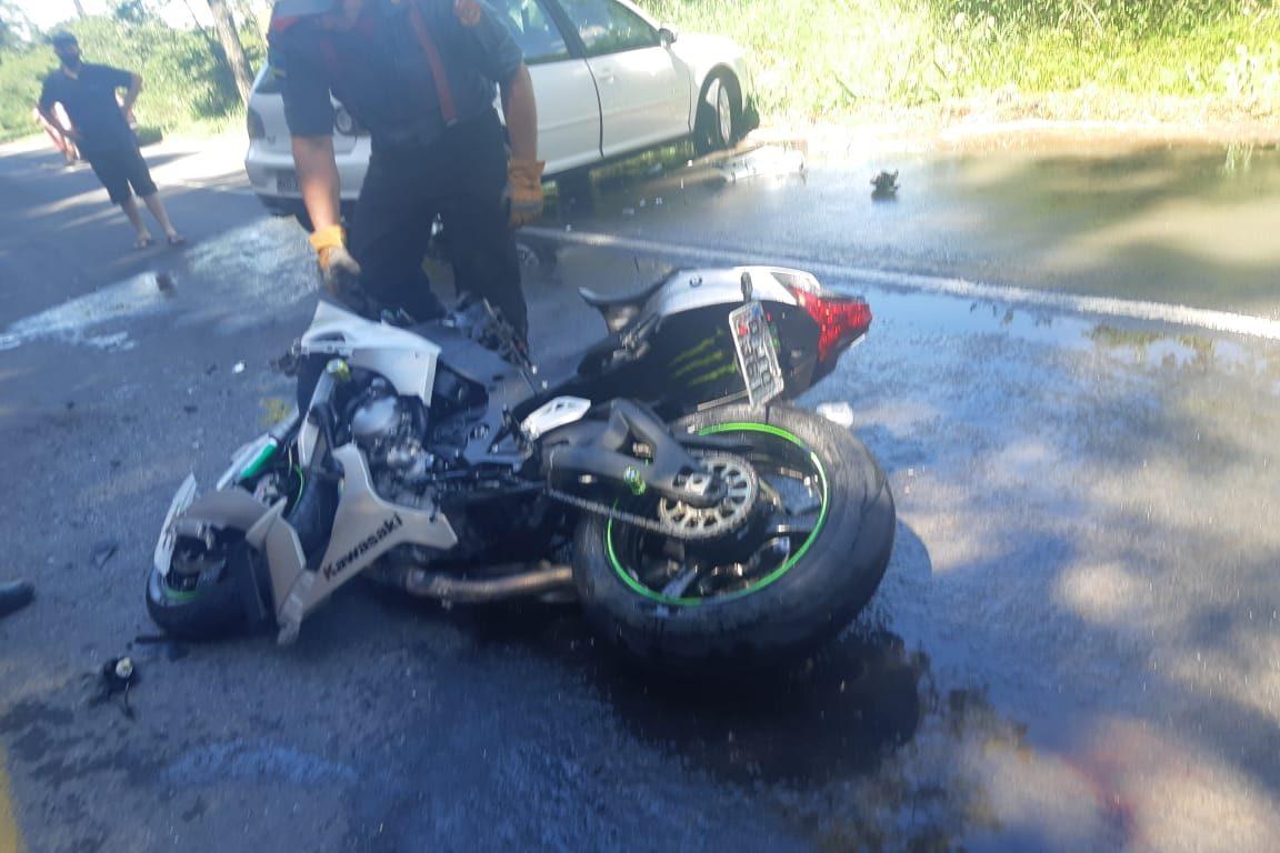 Motociclista morre após perder braço em colisão no Alto Vale - Divulgação/PRF