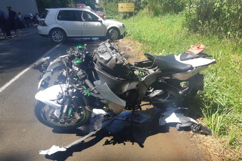 Motociclista morre após perder braço em colisão no Alto Vale – Foto: Divulgação/PRF