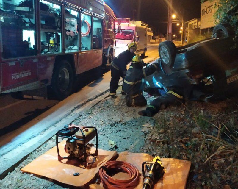 Acidente em Brusque – Foto: CBM/Divulgação