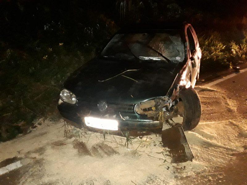 Batida de frente envolveu um VW/Golf com placas de Xanxerê – Foto: PMRv/Divulgação/ND