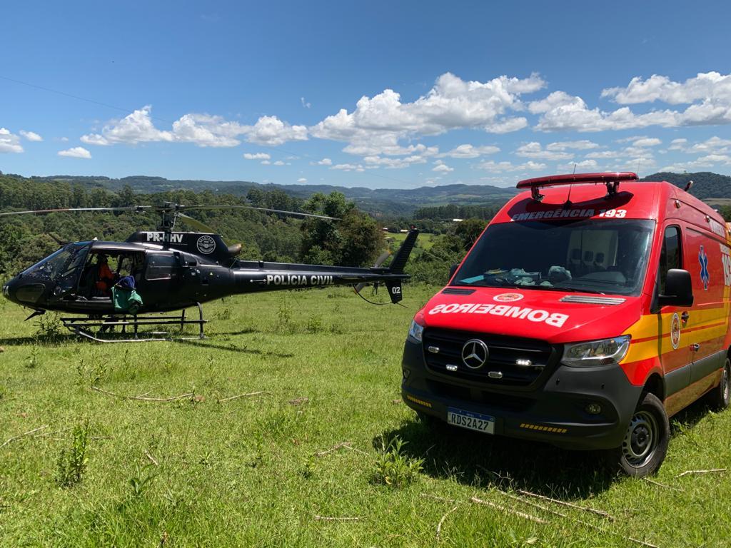 Bombeiros foram acionados por volta das 10h45 desta sexta-feira (26) na SC-283 sentido a Seara - Saer/Sara/Divulgação