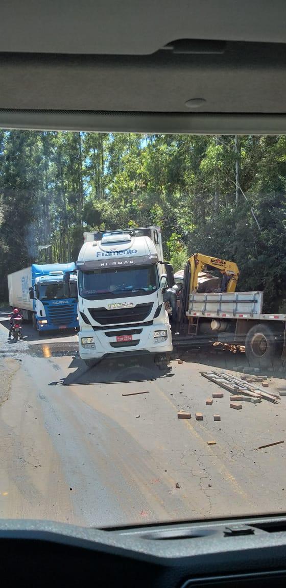 Trânsito ficou lento na SC-283 sentido ao município de Seara - Divulgação/ND