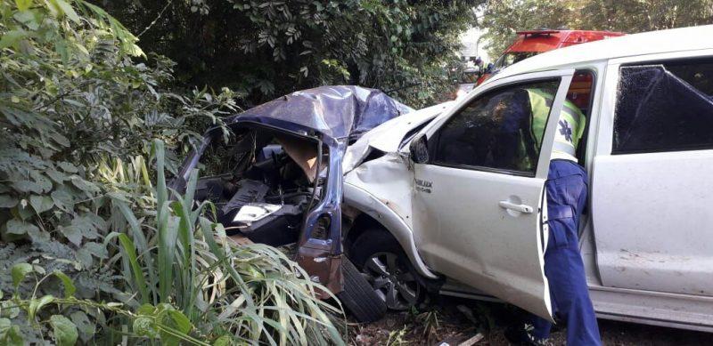 Acidente foi registrado na SC-160 entre Pinhalzinho e Saudades, no Oeste de SC – Foto: Corpo de Bombeiros/Divulgação/ND