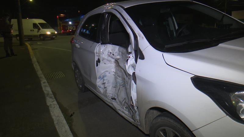 Motociclista colidiu contra carro que fez conversão proibida – Foto: Ricardo Alves/NDTV