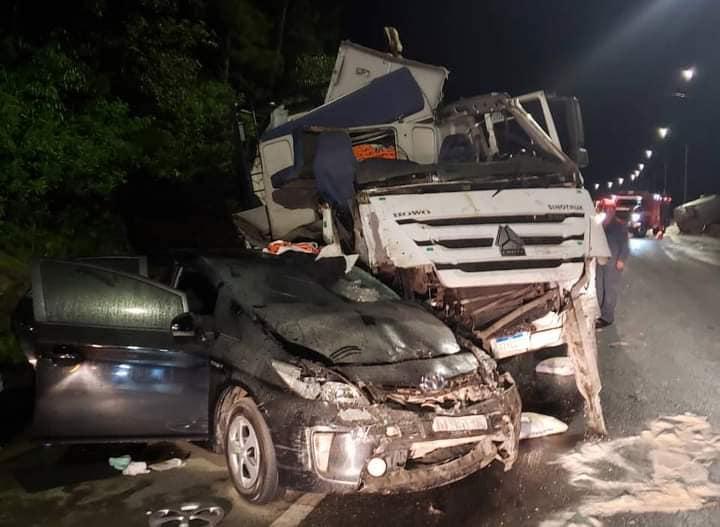 Acidente envolvendo oito veículos ocorreu na noite deste domingo (14) – Foto: Internet/Divulgação