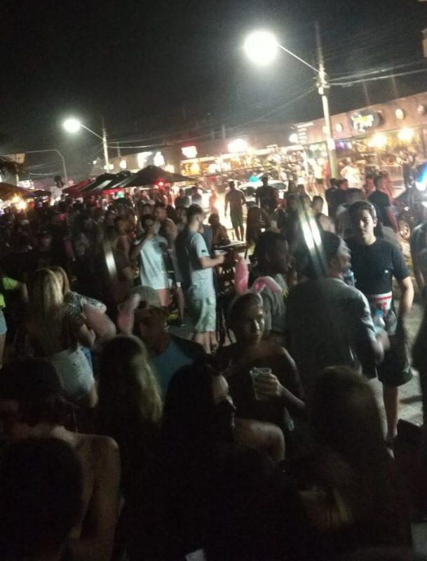 Mesmo sem programação oficial, houve aglomeração na Prainha – Foto: Divulgação/ND