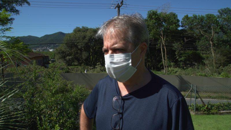 Aldo Mario Mano, morador preocupado com a obra do novo sistema de esgoto da região