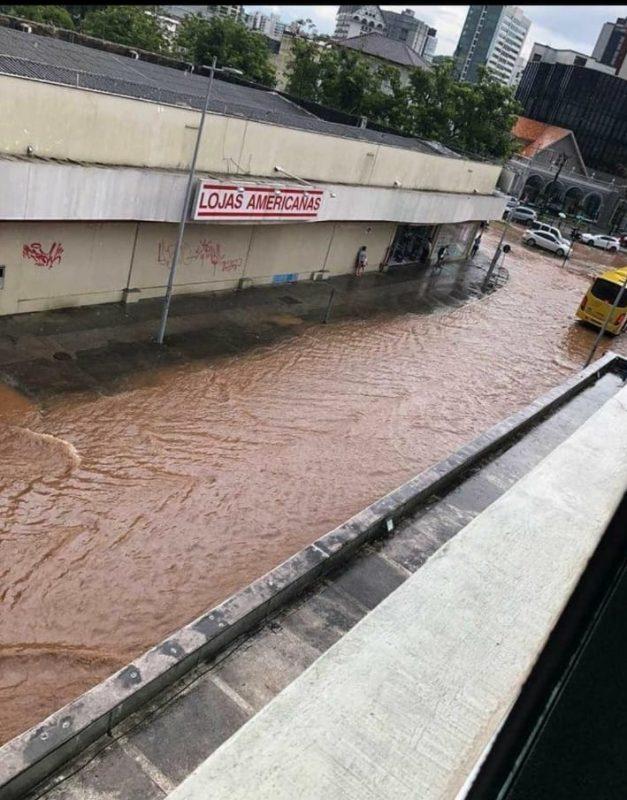 Começo da rua 9 de março, centro Joinville – Foto: Internet