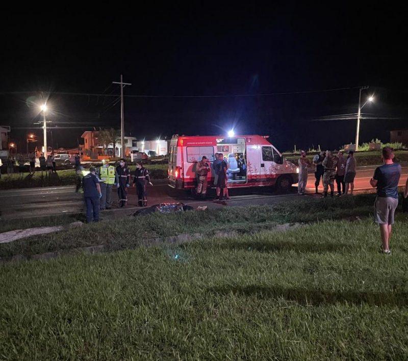 Idosa é atropelada na BR-282 e morre devido a gravidade dos ferimentos – Foto: Rede sociais/Divulgação/ND