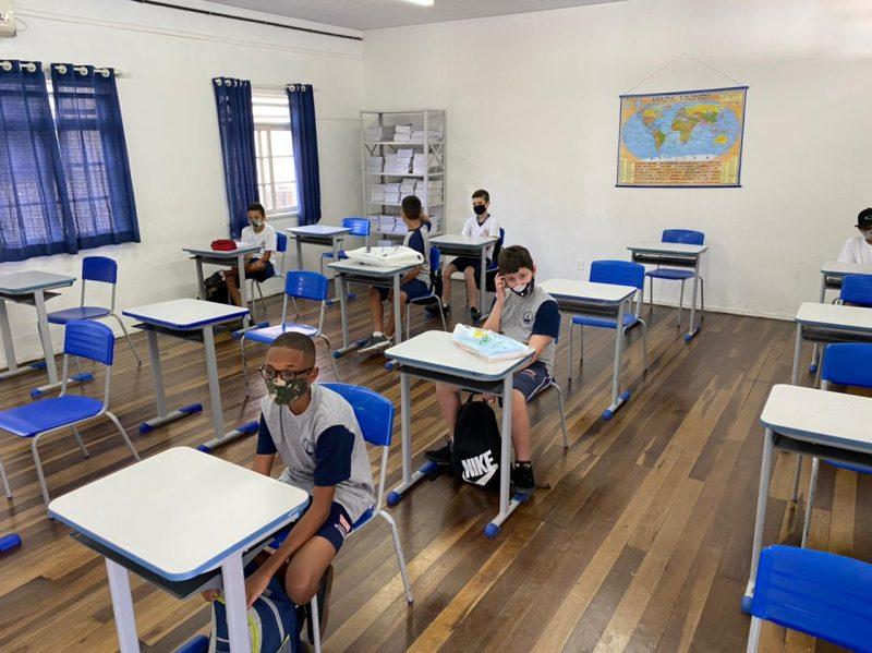Aulas presenciais serão retomadas em 18 de fevereiro na rede estadual de ensino em Santa Catarina – Foto: Moisés Stuker / NDTV Blumenau