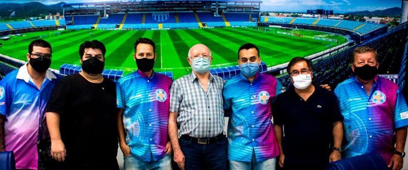 Diretores do Avaí Futebol Clube e da Acadêmicos do Sul da Ilha firmam parceria para o Carnaval 2023 e para o projeto social Acadêmicos do Amanhã – Foto: Reprodução/Redes sociais/ND