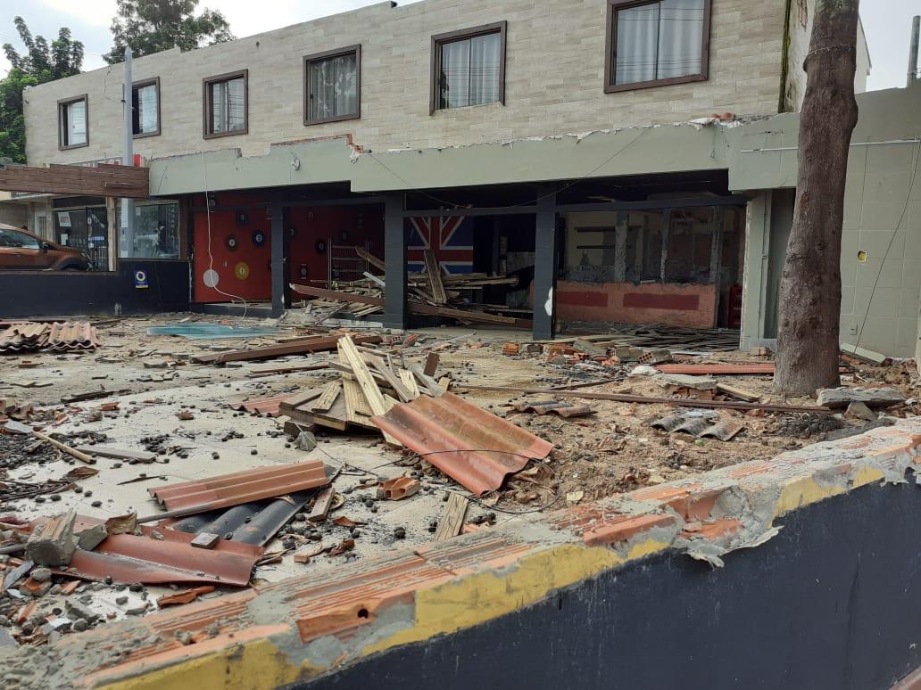 Dono destruiu o bar no bairro Rio Tavares - Divulgação/ND