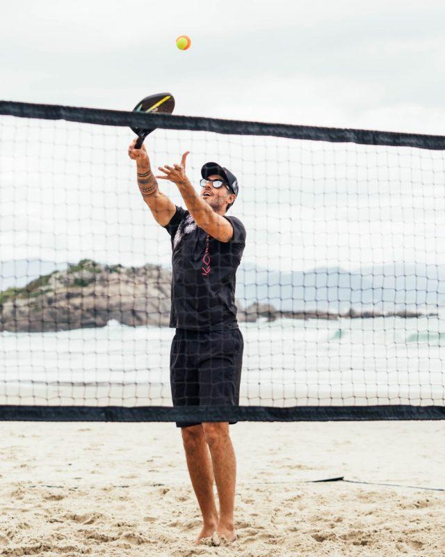 Felipe pratica beach tennis desde 2012. Foto: Maria Alice / Divulgação