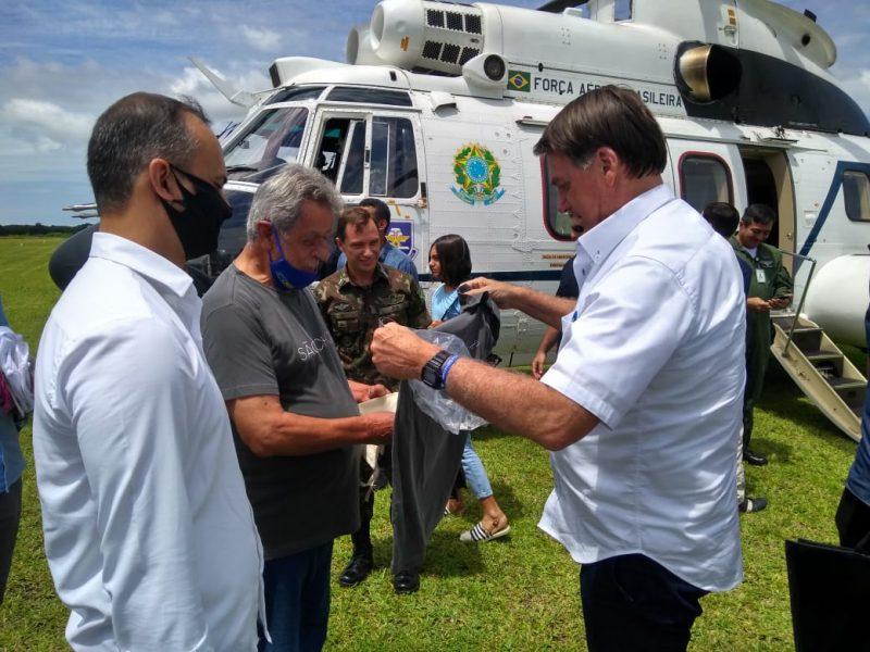 O helicóptero saiu de Navegantes e pousou no Aeródromo de Iperoba antes das 12h – Foto: Divulgação/ND