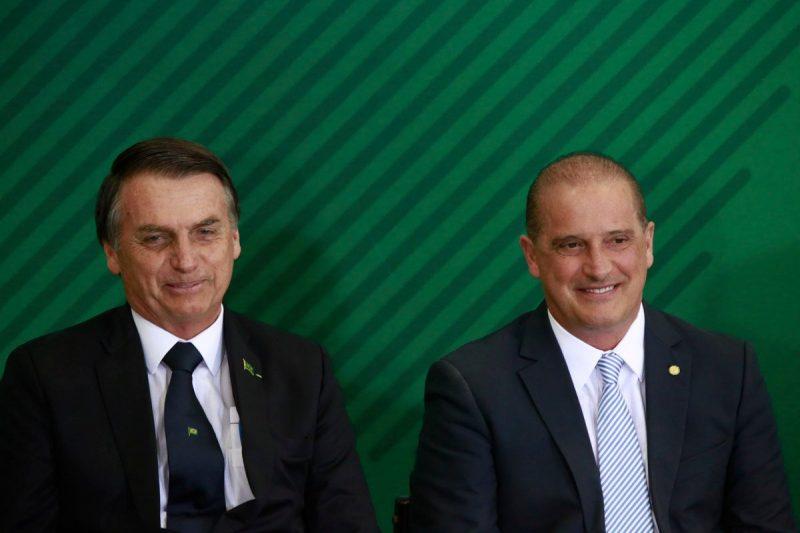 Presidente Jair Bolsonaro e o ministro da Cidadania Onyx Lorenzoni – Foto: Rafaela Felicciano/Metrópoles/ND