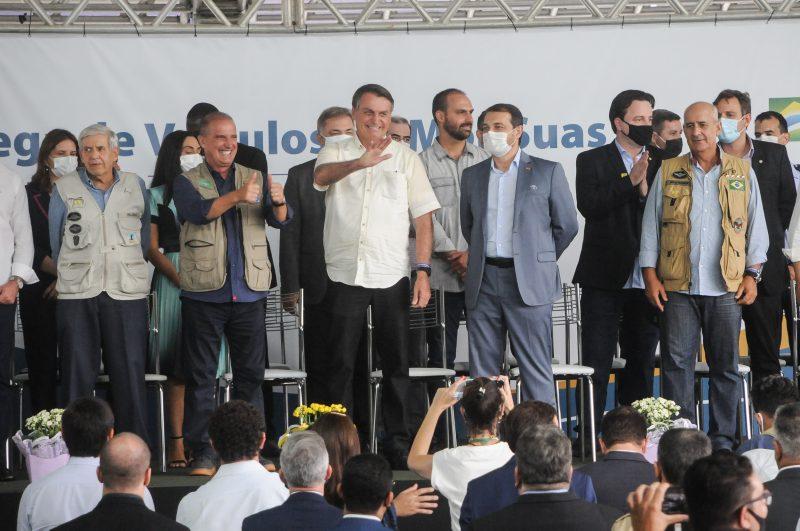 Três ministros de Estado acompanharam a visita de Jair Bolsonaro a Florianópolis
