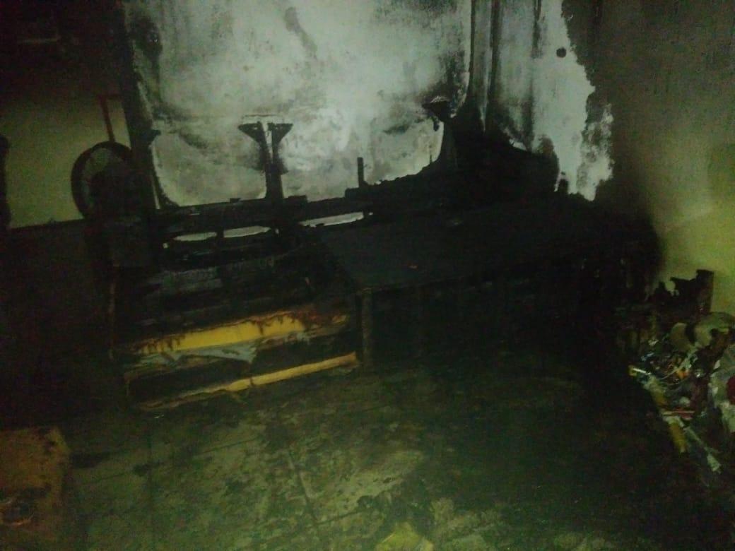 Principal suspeito de ter ateado fogo no local é o ex-companheiro da vítima - Bombeiros de Videira/Divulgação