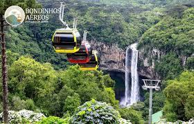 Bondinho deu novo visual à cascada de Canela – Foto: Divulgacão