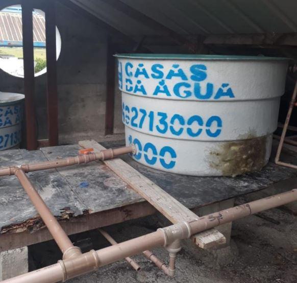 Nova caixa d'água foi instalada no Tisac - Divulgação/PMF