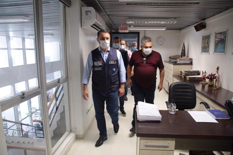 Carlos Moisés está no Oeste para auxiliar no socorro à região em relação à Covid-19