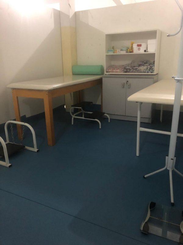 Departamento médico no alojamento do Batistense – Foto: Divulgação/ND