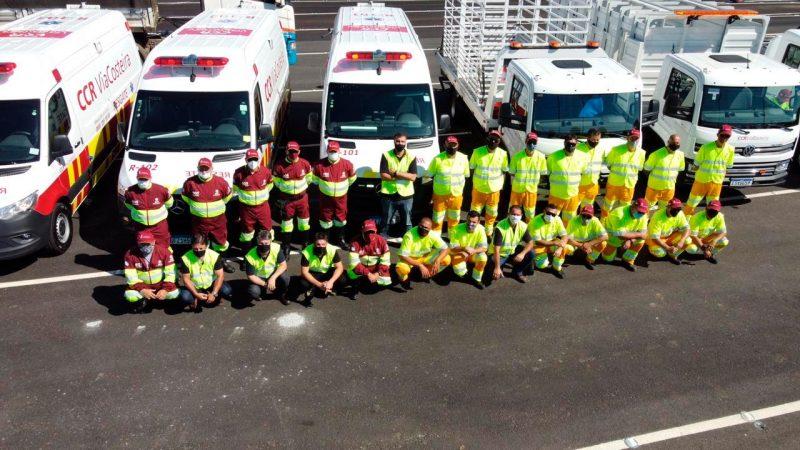 Equipe disponibilizada pela CCR, segundo a concessionária, já está treinada para atuar no trecho – Foto: CCR Costeira/divulgação/ND