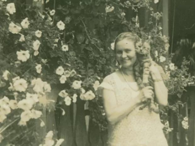 Edith Gaertner nasceu em Blumenau, no dia 22 de março de 1882. Era filha de Victor Gaertner, sobrinho-neto do Dr. Blumenau. - Arquivo Histórico/FCBlu