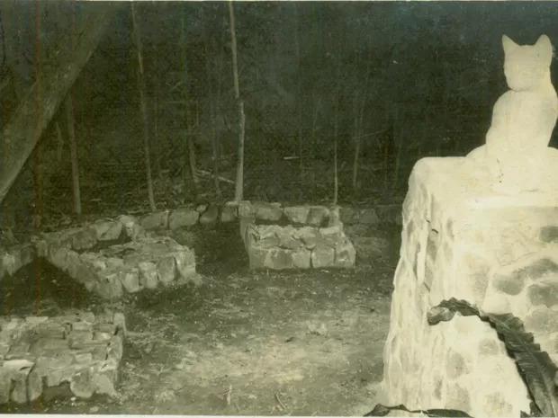 Sempre que um deles partia, era sepultado no horto aos fundos da casa de Edith com direito, inclusive, a túmulo - Arquivo Histórico/FCBlu