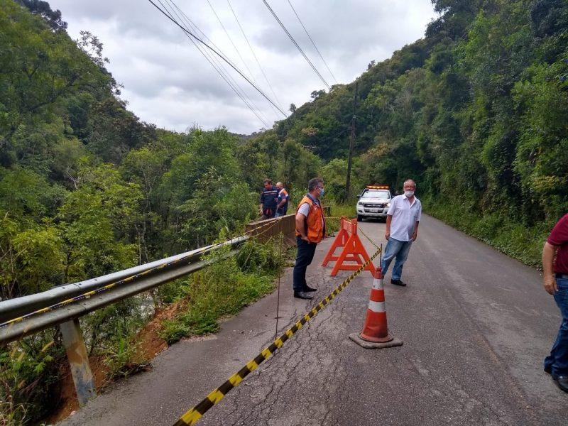Governo estadual decreta situação de emergência em Rancho Queimado nesta quinta-feira (25) por conta das chuvas de janeiro – Foto: Divulgação/ND